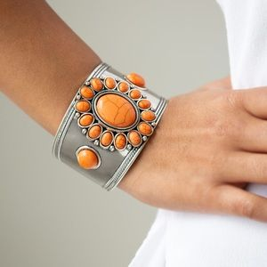 Room to Roam- orange cuff bracelet